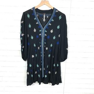 Free People Dresses - NEW Free People Star Gazer Embroidered Tunic Dress